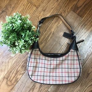 Coach Special Edition Tattersall plaid Wool Hobo